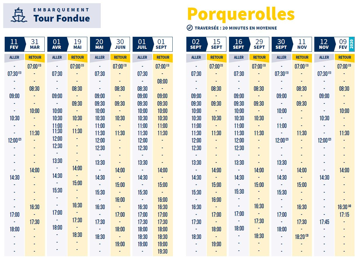 Shuttle boats to Porquerolles - Hyères Tourist Office official website