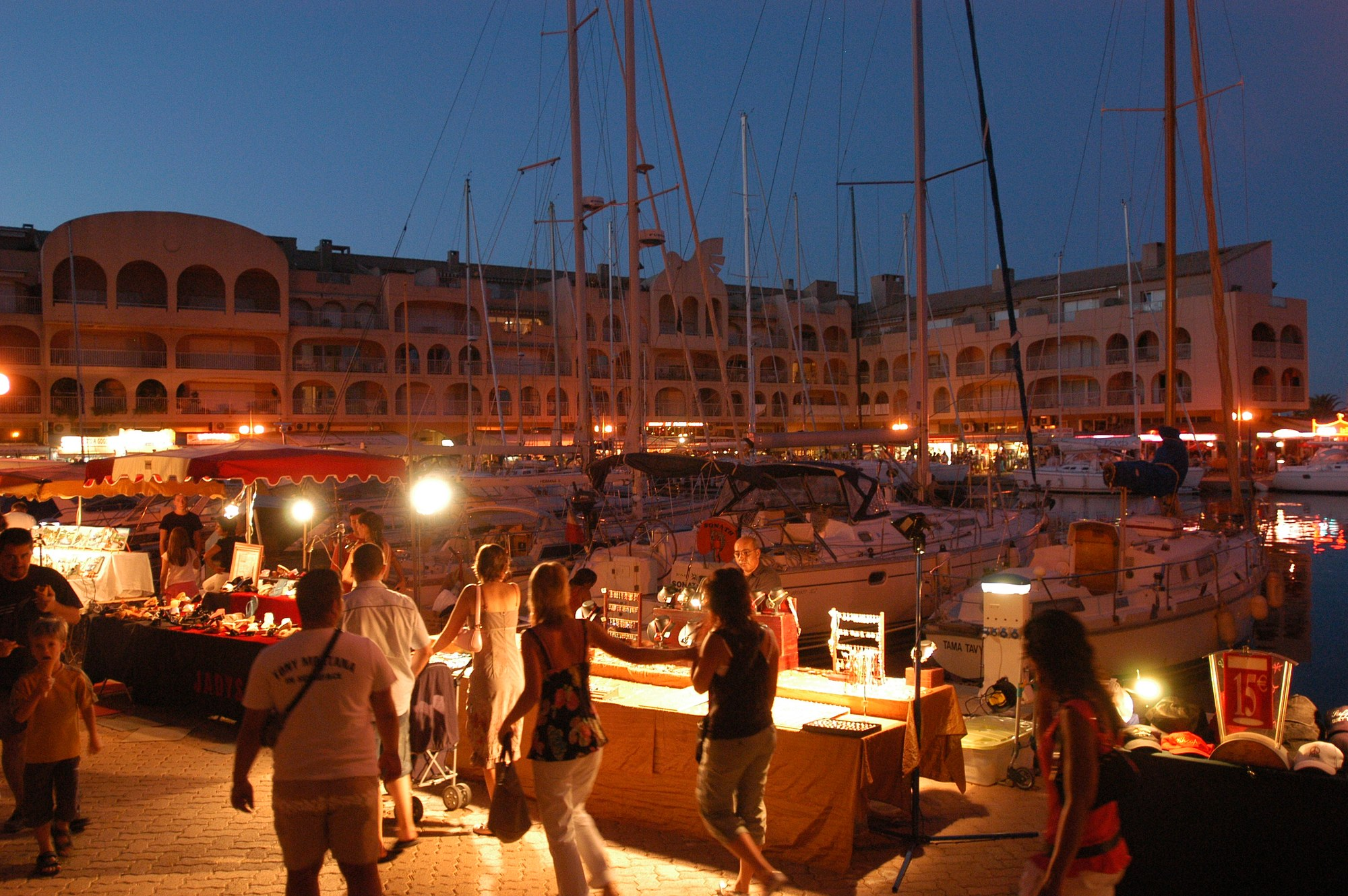 Night market in Hyeres port